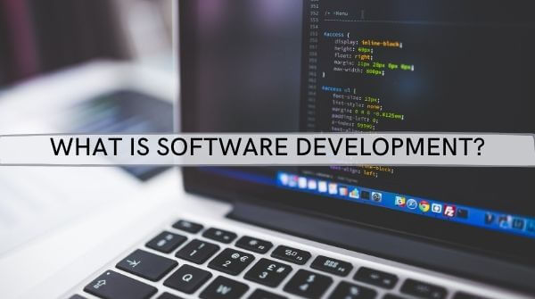 The image depicts what is software development, the history of software development and explanation of SLDC MODEL