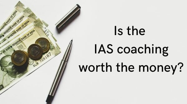The amount of fees charged by IAS coaching institutes should be considered before you choose best IAS coaching institute
