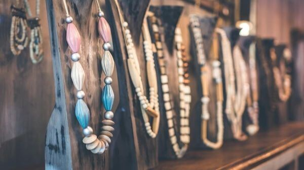 Different kinds of wooden jewellery to club with an outfit for rainy day.