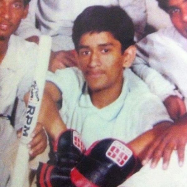 Years after Date of Birth of MS Dhoni  when he started playing cricket for his school team.