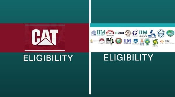 List up the major difference between the eligibility criterias of IIM admission and CAT exam.