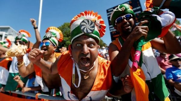 Fans celebrating and cheering for India International Cricket Team
