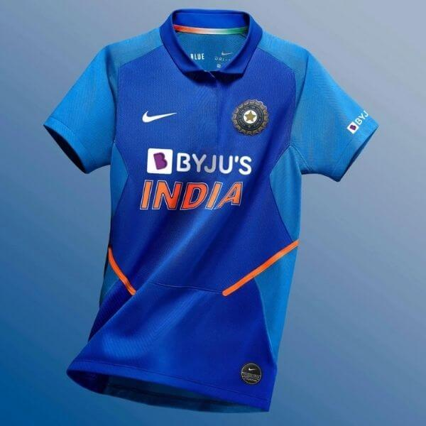 India National Cricket Team Jersey manufactured by Nike and Sponsored by BYJU's