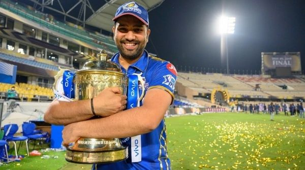 World Number 2 batsmen holding the IPL Trophies in his arms after winning as a captain for Mumbai Indians