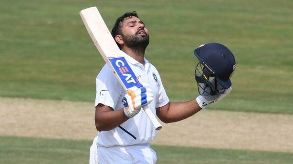 Rohit Sharma celebrating his test century