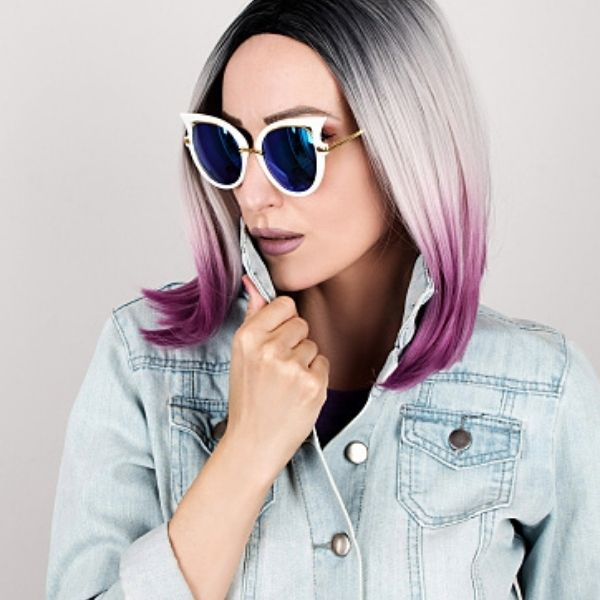 If you want to jump on the train of crazy hair color for women trend then this is the one for you. It will completely change your look.