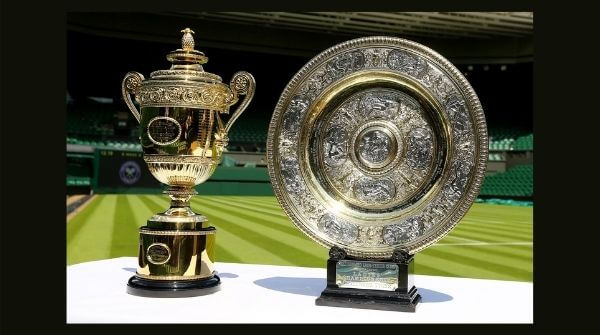 Trophies given along with Wimbledon prize money to the Gentlemen's and Ladies Singles winners