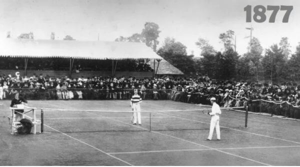 The first ever Wimbledon Championship played in 1877