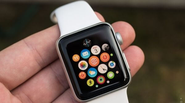 Apple Iphone Watch Series 2 with white color strap
