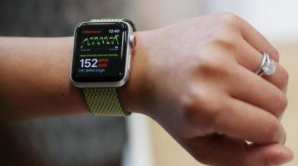 Series 3 smartwatch from Apple with optical heart sensor