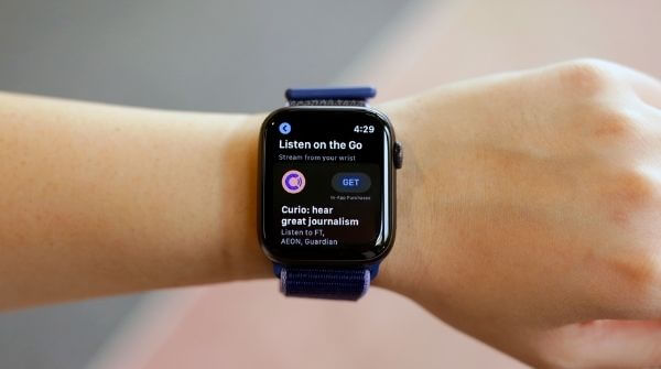 Series 5 smartwatch with 30 percent larger display in comparison to the series 3
