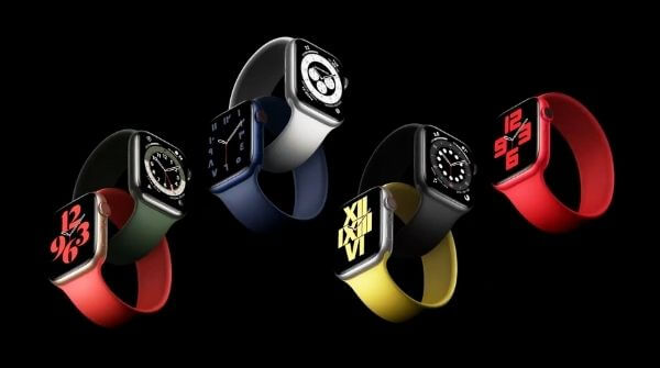 Series 6 and SE smartwatch in different colors