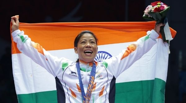 The Flag Bearer of India in 2012 London Olympics Kom