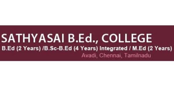This is a poster of Sathyasai B.Ed college offering integrated course for B.Ed students.