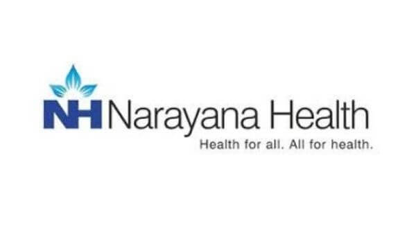 This is the logo oif Narayan hospitals for the best cardiologists.