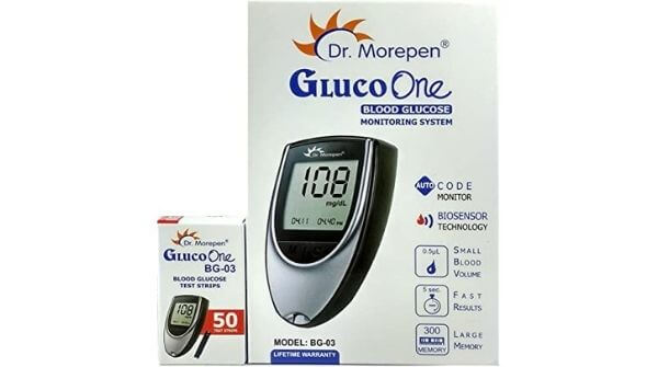 Image on Dr Morepen with glucometer strips