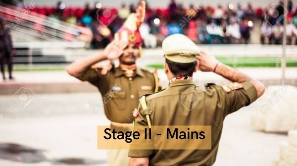 About stage II mains exam.