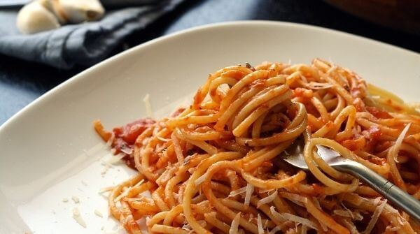 Spaghetti- A type of Italian pasta with long, thin and cylindrical shape.